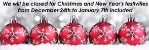 CHRISTMAS HOLIDAYS  1